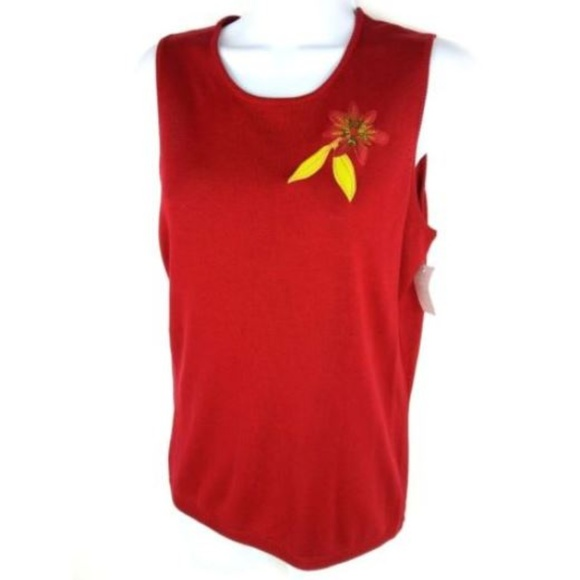 c7cb8de79f Donna Morgan Blouse Top Size 4 Red 100% Silk